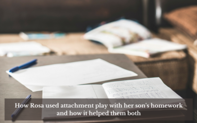 Guest post from Rosa Comellas – using attachment play to help her son and herself around homework