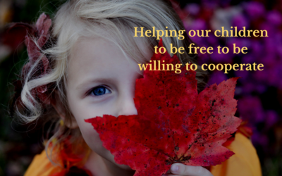 Helping our children to be free to be willing to cooperate