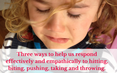 Three ways to help us respond effectively and empathically to hitting, biting, pushing, taking and throwing.
